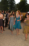 Julia Jason and Charlotte Tilbury. Mollie Dent-Brocklehurst and Vanity Fair host  the opening of 'Vertigo'  a mixed art exhibition at Sudeley Castle. Winchombe, Gloucestershire. 18 June 2005. ONE TIME USE ONLY - DO NOT ARCHIVE  © Copyright Photograph by Dafydd Jones 66 Stockwell Park Rd. London SW9 0DA Tel 020 7733 0108 www.dafjones.com