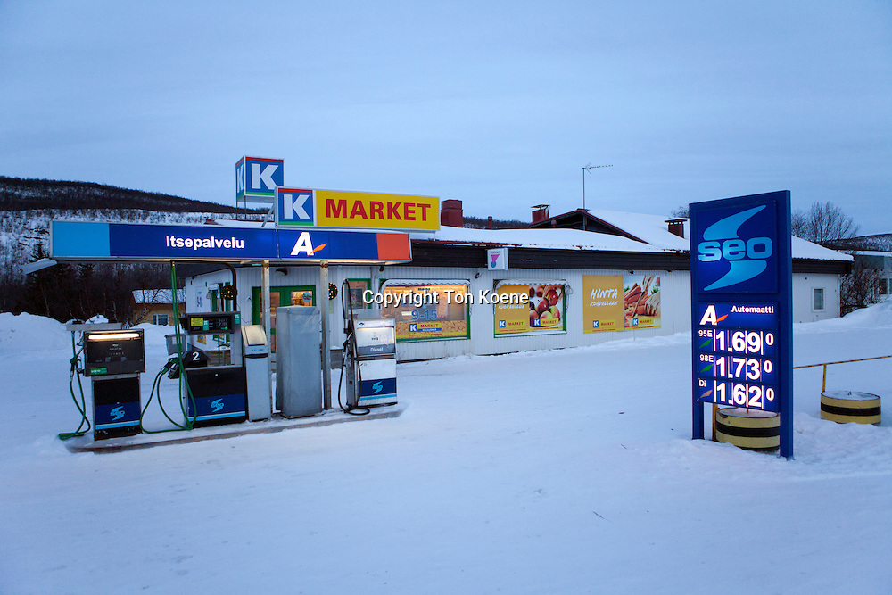 supermarket and petrol station in Finland