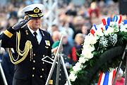 Nationale dodenherdenking op de Dam in Amsterdam .<br /> <br /> Op de foto: Prins Willem Alexander