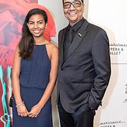 NLD/'Amsterdam/20170912 - Gala van Het Nationale Ballet , Jurgen Raymann met zijn dochter
