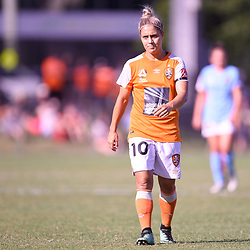 BRISBANE, AUSTRALIA - FEBRUARY 11: Katrina Gorry of the Roar looks on during the Westfield W-League Semi Final match between the Brisbane Roar and Melbourne City at Perry Park on February 11, 2018 in Brisbane, Australia. (Photo by Patrick Kearney / Brisbane Roar)