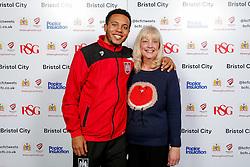 Korey Smith of Bristol City poses during the Player Sponsors' Evening in the Sports Bar & Grill at Ashton Gate - Mandatory byline: Rogan Thomson/JMP - 11/04/2016 - FOOTBALL - Ashton Gate Stadium - Bristol, England - Bristol City Player Sponsors' Evening.