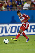 FRISCO, TX - SEPTEMBER 29:  Kellyn Acosta #23 of FC Dallas crosses the ball against the Columbus Crew on September 29, 2013 at Toyota Stadium in Frisco, Texas.  (Photo by Cooper Neill/Getty Images) *** Local Caption *** Kellyn Acosta