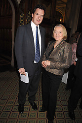 GEORGE OSBORNE MP and DAME MARY MARSH at a reception for the third NSPCC Hall of Fame Awards Ceremony in the Members Dining Room, The House of Commons, London on 15th May 2007.<br /><br />NON EXCLUSIVE - WORLD RIGHTS