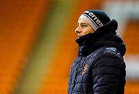 Blackpool's manager Danny Ventre<br /> <br /> Photographer Alex Dodd/CameraSport<br /> <br /> The FA Youth Cup Third Round - Blackpool U18 v Derby County U18 - Tuesday 4th December 2018 - Bloomfield Road - Blackpool<br />  <br /> World Copyright © 2018 CameraSport. All rights reserved. 43 Linden Ave. Countesthorpe. Leicester. England. LE8 5PG - Tel: +44 (0) 116 277 4147 - admin@camerasport.com - www.camerasport.com