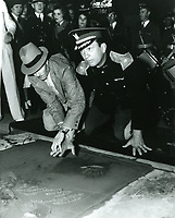 1936 Victor McLagen's hand/footprint ceremony at Grauman's Chinese Theater