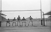 Kerry players in goal as Derry's B. Miller scores a goal during the All Ireland Minor Gaelic football final Derry v. Kerry in Croke park on the 26th September 1965.
