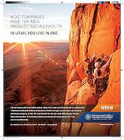 Print Advertisement for Utah Governor's Office of Economic Development.