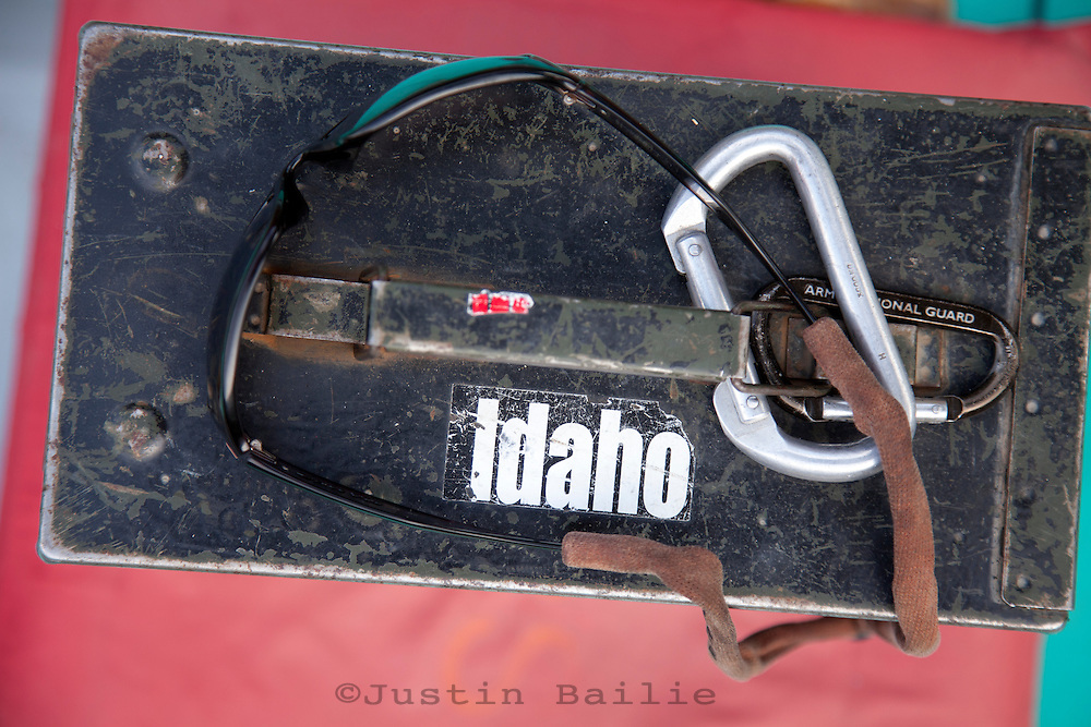 Ammo can with Idaho sticker. Hell's Canyon of the Snake River, ID / OR.