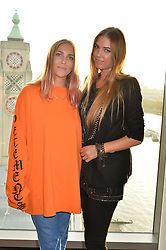 Becky Tong and Amber Le Bon at the Emporio Armani YOU fragrance launch at Sea Containers, 18 Upper Ground, London England. 20 July 2017.<br /> Photo by Dominic O'Neill/SilverHub 0203 174 1069 sales@silverhubmedia.com