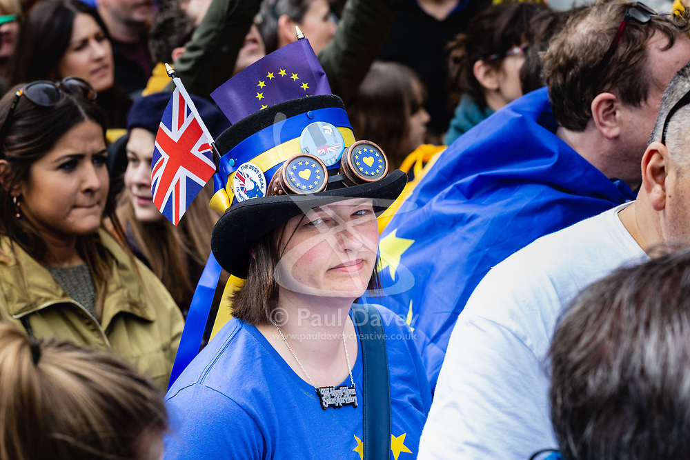 Tens of thousands of people from across the UK march from Park Lane to Parliament demanding a People's Vote on the EU withdrawal agreement before the UK leaves the EU. London, March 23 2019