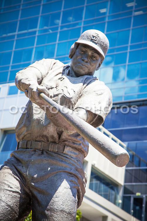 Memorial Sculpture of Padres Baseball Player Tony Gwynn