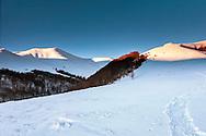 Balkan mountain at winter around Tazha hut