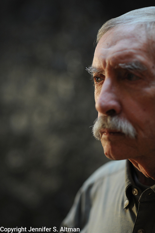 Manhattan, New York. January 18, 2009. Playwright Edward Albee, age 80, is seen in his home in Manhattan, NY. 01/18/2009 Photo by Jennifer S. Altman/For The Times