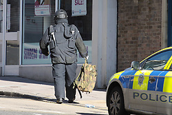 © Licensed to London News Pictures. 13/02/2014. Brighton, UK Emergency service at the scene in Brighton today 13th February 2014. Four suspect packages have been delivered to Army careers offices in the south-east of England, counter-terrorism police said. Bomb disposal units from the Ministry of Defence (MoD) were called to the recruitment centres in Oxford, Slough, Kent and Brighton.. Photo credit : Hugo Michiels/LNP
