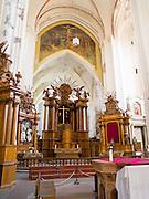 Interior view of St. Anne's Church (Šv. Onos bažnyčia) in Vilnius, Lithuania.
