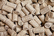 Corks ready for wine bottling at the vineyard at Chateau Fontcaille Bellevue in the Bordeaux region of France