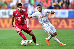 September 30, 2018 - Harrison, New Jersey, USA - New York Red Bulls Forward  BRIAN WHITE (42) looks for space at Red Bull Arena in Harrison New Jersey New York defeats Atlanta 2 to 0 (Credit Image: © Brooks Von Arx/ZUMA Wire)
