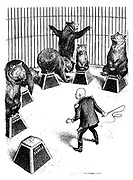 (Circus Trainer Khrushchev's Problem: one of the bears Jugoslavia refuses to be trained like the other Eastern European bears)