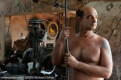 Iladio in his shop. Bauta, Cuba 2009<br /> <br /> Limited Edition Print from an edition of 30. Photo ©2009 Michael Lichter.