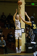 San Francisco Dons forward Chase Foster (22) shoots a jumper against the San Francisco State University Gators at Kezar Pavilion in San Francisco, Calif., on December 6, 2016. (Stan Olszewski/Special to S.F. Examiner)