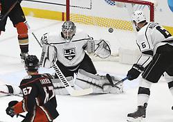 November 7, 2017 - Los Angeles, California, U.S - Los Angeles Kings goalie Jonathan Quick (32) fails a save during a 2017-2018 NHL hockey game against Anaheim Ducks in Anaheim, California on Nov. 7, 2017. Los Angeles Kings won 4-3 in overtime. (Credit Image: © Ringo Chiu via ZUMA Wire)