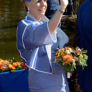 Koningsdag 2014 in de Rijp, het vieren van de verjaardag van de koning. / Kingsday 2014 in the Rijp , celebrating the birthday of the King. <br /> <br /> <br /> Op de foto / On the photo:  Prinses Laurentien / Princess Laurentien