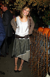 SHEHERAZADE GOLDSMITH at an exclusive evening featuring the greatest talents in fashion today in aid of the African children who have been affected bt the AIDS epidemic held at the Chelsea Gardener, Sydney Street, London on 20th September 2004<br /><br />NON EXCLUSIVE - WORLD RIGHTS
