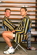 Peter Spurrier Sports  Photo<br />email pictures@rowingpics.com<br />Tel 44 (0) 7973 819 551<br />Photo Peter Spurrier<br />Leander Boat House Matt Pinsent [left] and Steve Redgrave