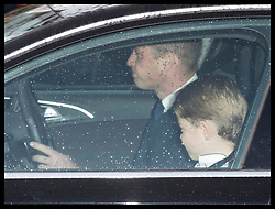 December 18, 2019, London, London, United Kingdom: Image licensed to i-Images Picture Agency. 18/12/2019. London, United Kingdom. Duke of Cambridge and Prince George arriving at  The Queen's Christmas Party at Buckingham Palace in London  (Credit Image: © Stephen Lock/i-Images via ZUMA Press)