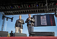 """Steven Colbert and Jon Stewart host the """"Rally to Restore Sanity And/Or Fear""""  in Washington DC.A crowd estimated  between 100,000- 200,000  came from across America  to the National Mall on October 30, 2010 before the midterm elections to participate in the """"Rally to Restore Sanity And/Or Fear"""" . Jon Stewart insists the rally was not a political event, however; the audience had messages of their own on hand made signs for the occasion, many with a political message."""