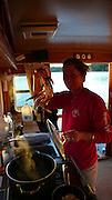 Cooking crab, Spencer Spit, Lopez Island, San Juan Islands, Washington State