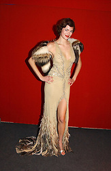 """Model JASMINE GUINNESS at the 10th annual British Red Cross London Ball.  This years ball theme was Indian based - """"Yaksha - Yakshi: Doorkeepers to the Divine"""" and was held at The Room, Upper Ground, London on 1st December 2004.  Proceeds from the ball will aid vital humanitarian work, including HIV/AIDS projects that the Red Cross supports in the UK and overseas.<br /><br />NON EXCLUSIVE - WORLD RIGHTS"""