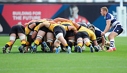 Both team scrum  - Photo mandatory by-line: Joe Meredith/JMP - Mobile: 07966 386802 - 21/09/2014 - SPORT - FOOTBALL - Bristol - Ashton Gate - Bristol Rugby v Cornish Pirates - Greene King IPA Championship