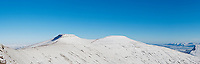 Winter panoramic view of Corn Du and Pen Y Fan, Brecon Beacons national park, Wales