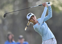 January 19, 2019 - Lake Buena Vista, FL, U.S. - LAKE BUENA VISTA, FL - JANUARY 19: Lydia Ko of New Zealand tees off on hole 16 during the third round of the Diamond Resorts Tournament of Champions on January 19, 2019, at Tranquilo Golf Course at Fours Seasons Orlando in Lake Buena Vista, FL. (Photo by Roy K. Miller/Icon Sportswire) (Credit Image: © Roy K. Miller/Icon SMI via ZUMA Press)