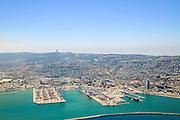 Aerial Photography of Haifa Harbour, Israel