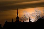 Sunset over Amsterdam, December 10th 2006