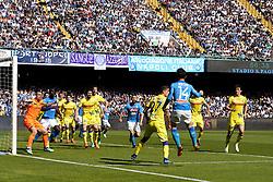 April 8, 2018 - Napoli, Napoli, Italy - Naples - Italy 08/04/2018.DRIES MERTENS of S.S.C. NAPOLI and SORRENTINO STEFANO, DEPAOLI FABIO, TOMOVIC NENAD, INGLESE ROBERTO of CHIEVO VERONA  during SERIE A  match between S.S.C. NAPOLI and CHIEVO VERONA   at Stadio San Paolo of Naples. .Final scores S.S.C. NAPOLI -CHIEVO VERONA 2-1  (Credit Image: © Emanuele Sessa/Pacific Press via ZUMA Wire)