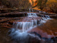 Zion National Park, Left Fork of North Creek, waterfall near the Subway, Utah