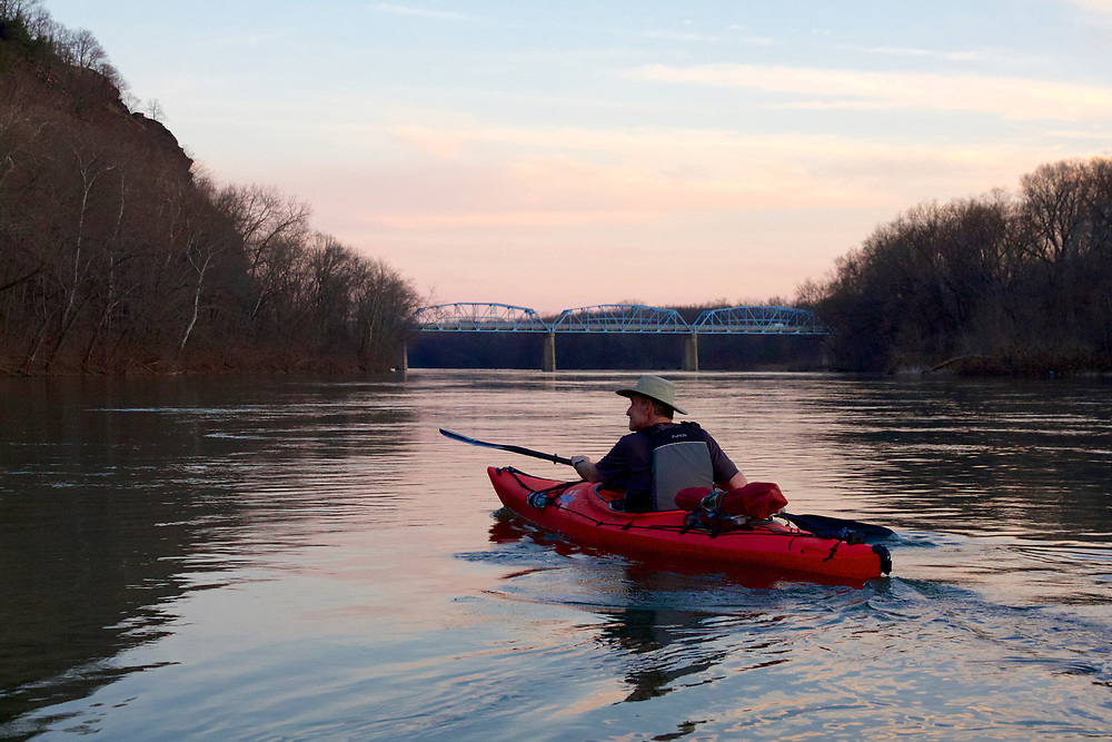 Warm March Paddle on the Potomac