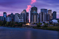 Downtown Calgary & Bow River, Before Sunrise