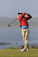 Shane Irwin (Killeen) on the 1st tee during Round 3 of The West of Ireland Open Championship in Co. Sligo Golf Club, Rosses Point, Sligo on Saturday 6th April 2019.<br /> Picture:  Thos Caffrey / www.golffile.ie