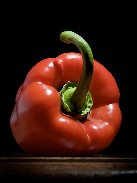 still life with a paprika on a table