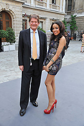 DIONNE BROMFIELD and SIR JOHN MADEJSKI at the Royal Academy of Arts Summer Exhibition Preview Party at Burlington House, Piccadilly, London on 2nd June 2011.