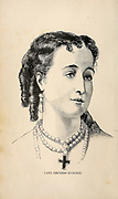 Dona Maria Eugenia Ignacia Agustina de Palafox y Kirkpatrick, 19th Countess of Teba, 16th Marchioness of Ardales (5 May 1826 – 11 July 1920), known as Eugénie de Montijo, was Empress of the French from her marriage to Emperor Napoleon III on 30 January 1853 until the Emperor was overthrown on 4 September 1870. from the book Sights and sensations in Europe : sketches of travel and adventure in England, Ireland, France, Spain, Portugal, Germany, Switzerland, Italy, Austria, Poland, Hungary, Holland, and Belgium : with an account of the places and persons prominent in the Franco-German war by Browne, Junius Henri, 1833-1902 Published by Hartford, Conn. : American Pub. Co. ; San Francisco, in 1871