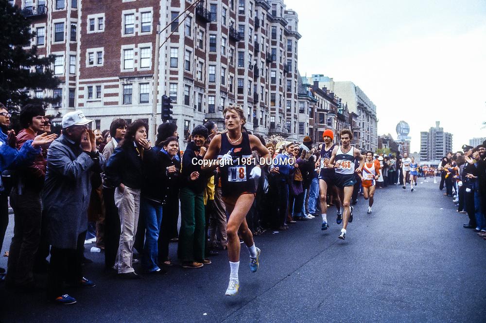 Allison Roe (NZL) winner of  the 1981 Boston Marathon