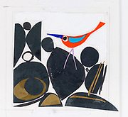Hand made collages made by Scottish Borders based artist John Berry, at his studio at WASPs in Selkirk