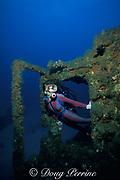 Patti Mount on wreck of the Mizpah, West Palm Beach, Florida ( Western Atlantic Ocean ) MR 99