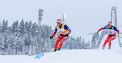 21.02.2016, Salpausselkae Stadion, Lahti, FIN, FIS Weltcup Langlauf, Lahti, Herren Skiathlon, im Bild v.l.: Martin Johnsrud Sundby (NOR), Hans Christer Holund (NOR) // f.l.: Martin Johnsrud Sundby of Norway, Hans Christer Holund of Norway competes during Mens Skiathlon FIS Cross Country World Cup, Lahti Ski Games at the Salpausselkae Stadium in Lahti, Finland on 2016/02/21. EXPA Pictures © 2016, PhotoCredit: EXPA/ JFK